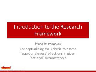 Introduction to the Research Framework