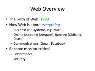 Web Overview