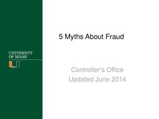 5 Myths About Fraud