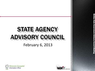State Agency  Advisory Council