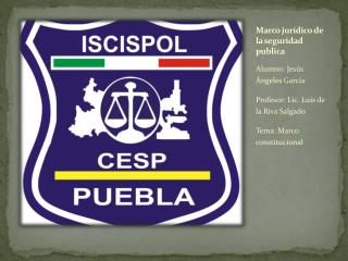 Marco jurídico de la seguridad publica