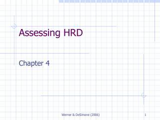 Assessing HRD