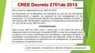 CREE Decreto 2701de 2013