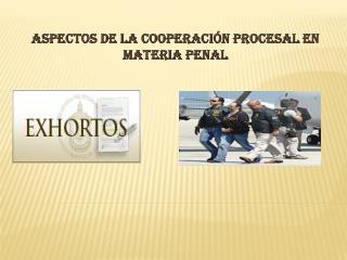 Aspectos de la cooperación procesal en materia penal