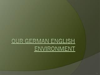 Our German English Environment