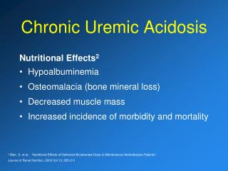 Chronic Uremic Acidosis