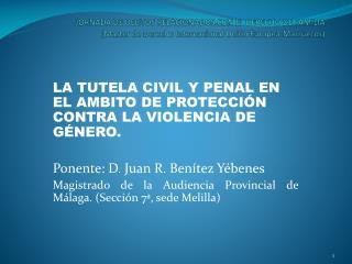 LA TUTELA CIVIL Y PENAL EN EL AMBITO DE PROTECCIÓN CONTRA LA VIOLENCIA  DE GÉNERO.