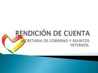 RENDICIÓN DE CUENTA