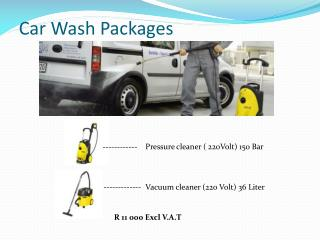 Car Wash Packages