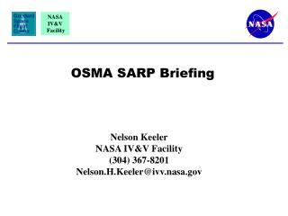 OSMA SARP Briefing
