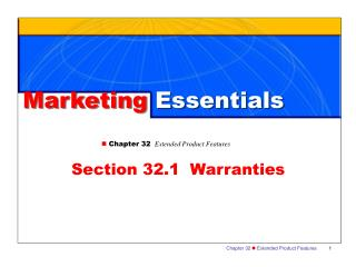 Marketing  Essentials