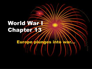 World War I Chapter 13