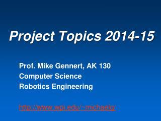 Project Topics  2014-15