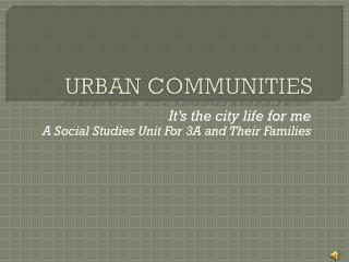 URBAN COMMUNITIES