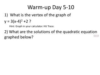 Warm-up  Day 5-10