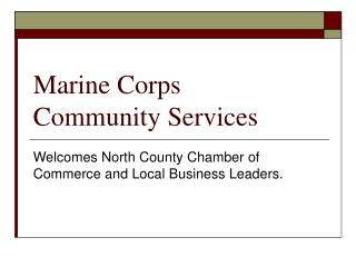 Marine Corps Community Services