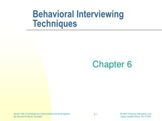 Behavioral Interviewing Techniques