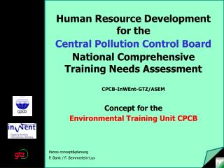 Human Resource Development for the  Central Pollution Control Board
