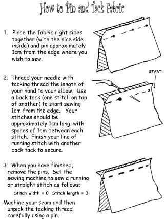 How to Pin and Tack Fabric