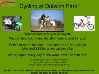 Cycling at Dulwich Park!
