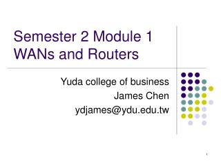 Semester 2 Module 1  WANs and Routers