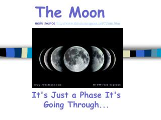 The Moon main source: thesciencequeen/7Units.htm