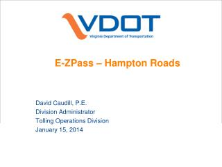 E- ZPass  – Hampton Roads