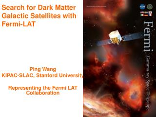 Search for Dark Matter Galactic Satellites with  Fermi-LAT