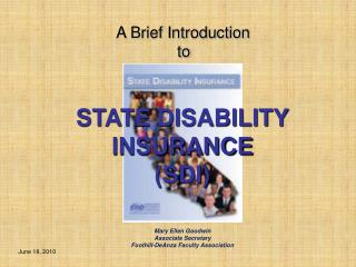 STATE DISABILITY  INSURANCE (SDI)