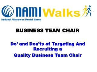 BUSINESS TEAM CHAIR Do' and Don'ts of Targeting And Recruiting a  Quality Business Team Chair
