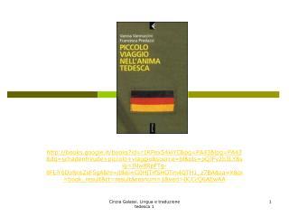 Piccolo viaggio nell'anima tedesca