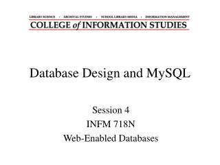 Database Design and MySQL