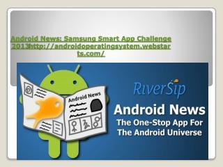 Android News : Samsung Smart App Challenge 2013 androidoperatingsystem.webstarts/