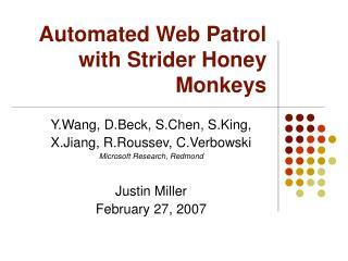 Automated Web Patrol with Strider Honey Monkeys