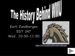 Karli Zandbergen EDT 347 Wed. 10:30-11:50