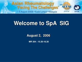 Welcome to SpA  SIG