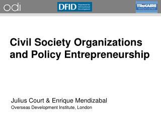 Civil Society Organizations and Policy Entrepreneurship