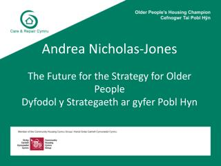 Strategy for Older People in Wales