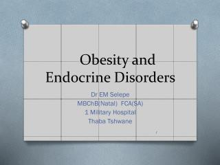 Obesity and Endocrine Disorders