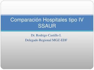 Comparación Hospitales tipo IV SSAUR