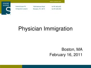 Physician Immigration