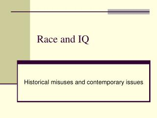 Race and IQ