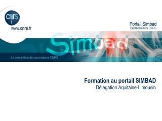 Formation au portail SIMBAD Délégation Aquitaine-Limousin