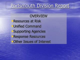 Portsmouth Division Report