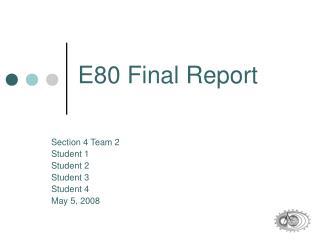 E80 Final Report