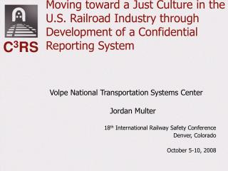 Volpe National Transportation Systems Center Jordan Multer
