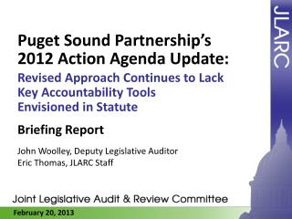 Puget Sound Partnership's 2012 Action Agenda Update:
