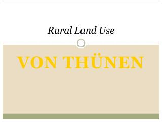 Rural Land Use