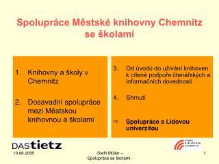Spolupráce Městské knihovny Chemnitz se školami
