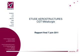 ETUDE AEROSTRUCTURES CGT Métallurgie